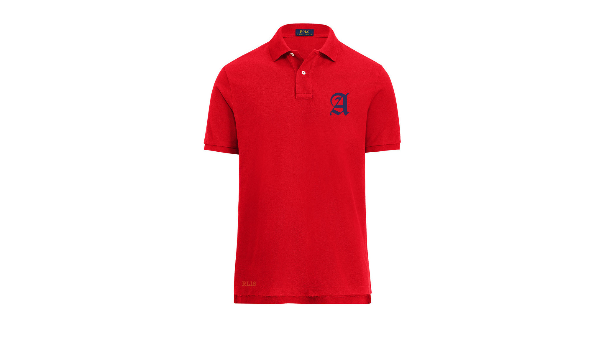 Ralph Lauren polo shirt with embroidered initial, $100, same-day personalization at Polo Ralph Laure