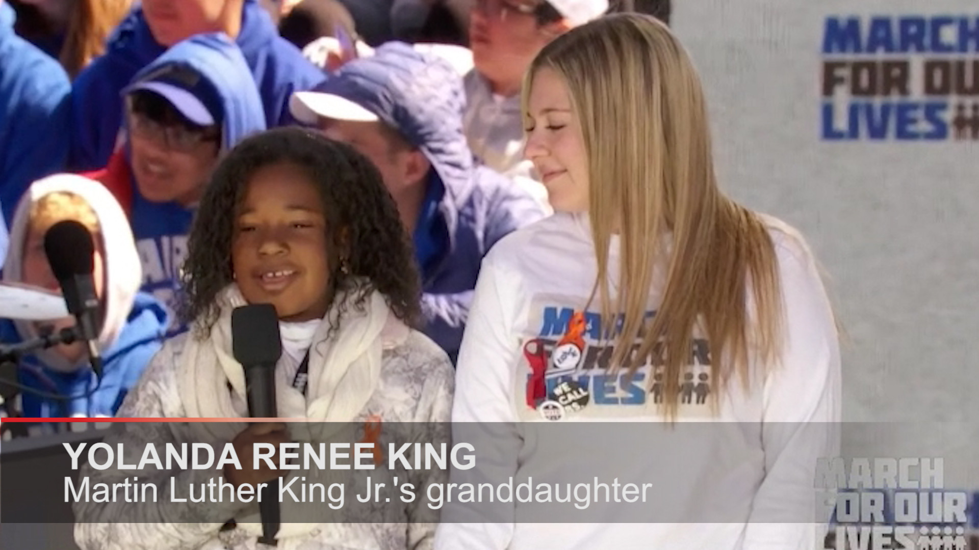 Martin Luther King Jr S Granddaughter Yolanda Renee King Speaks