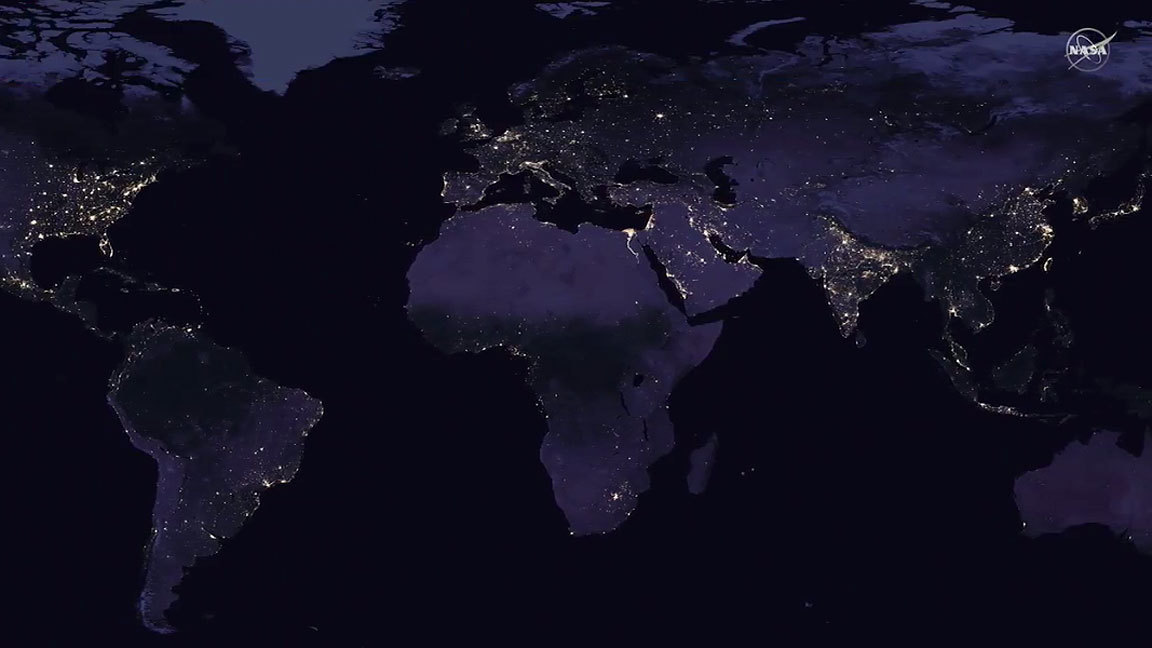 New Map Of Earth.Nasa Releases New Global Map Of Earth At Night Orlando Sentinel