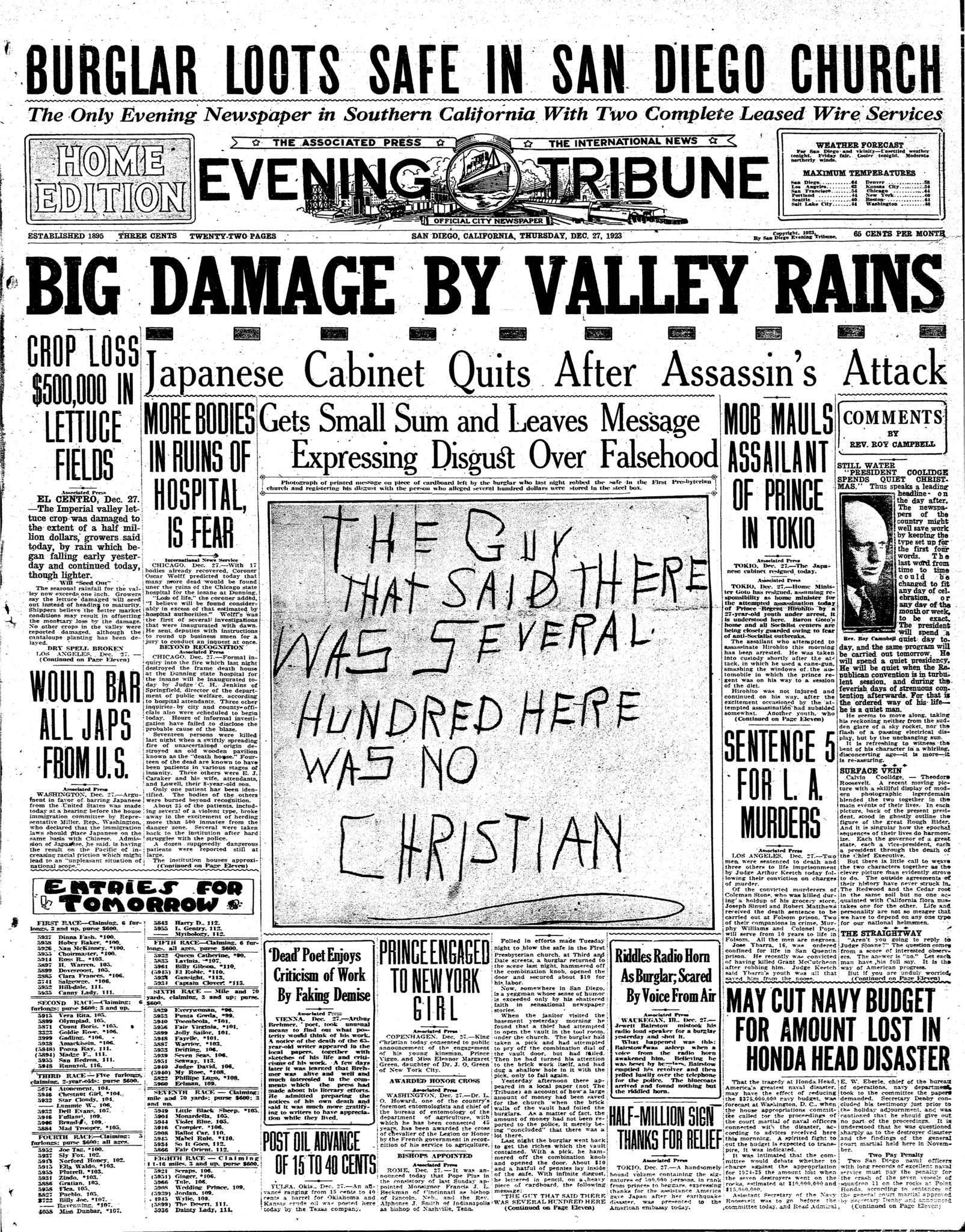 December 27, 1923