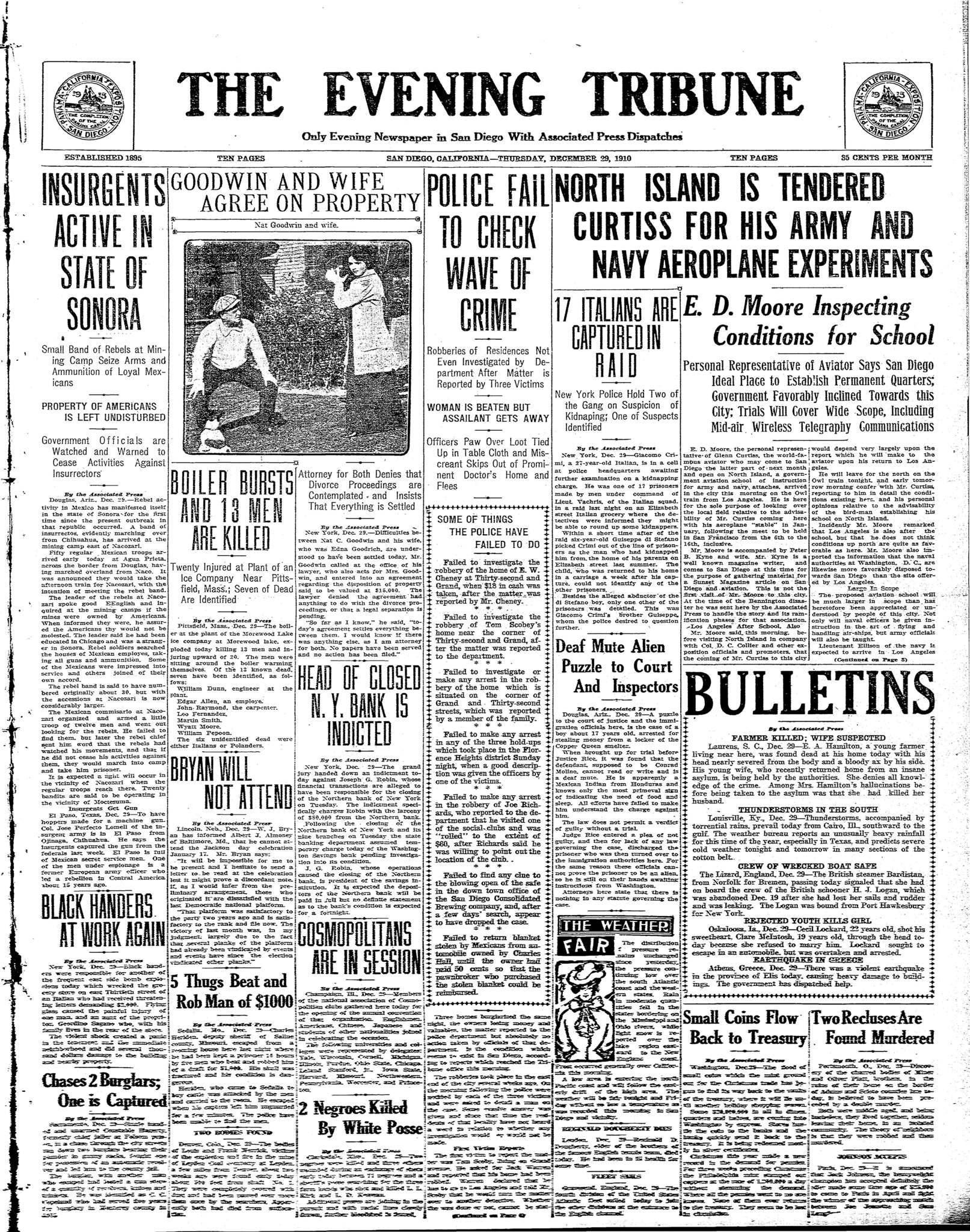 December 29, 1910