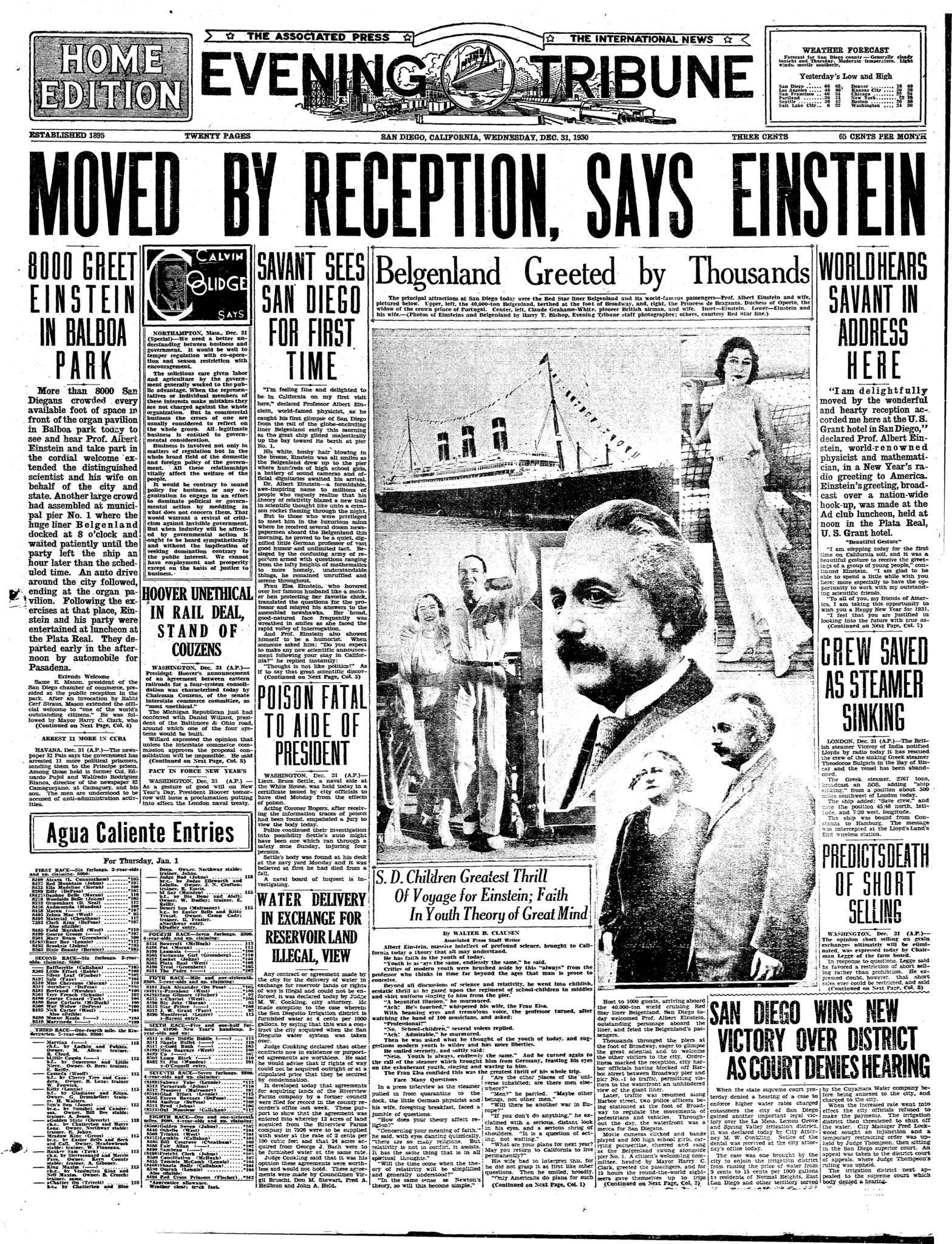 December 31, 1930