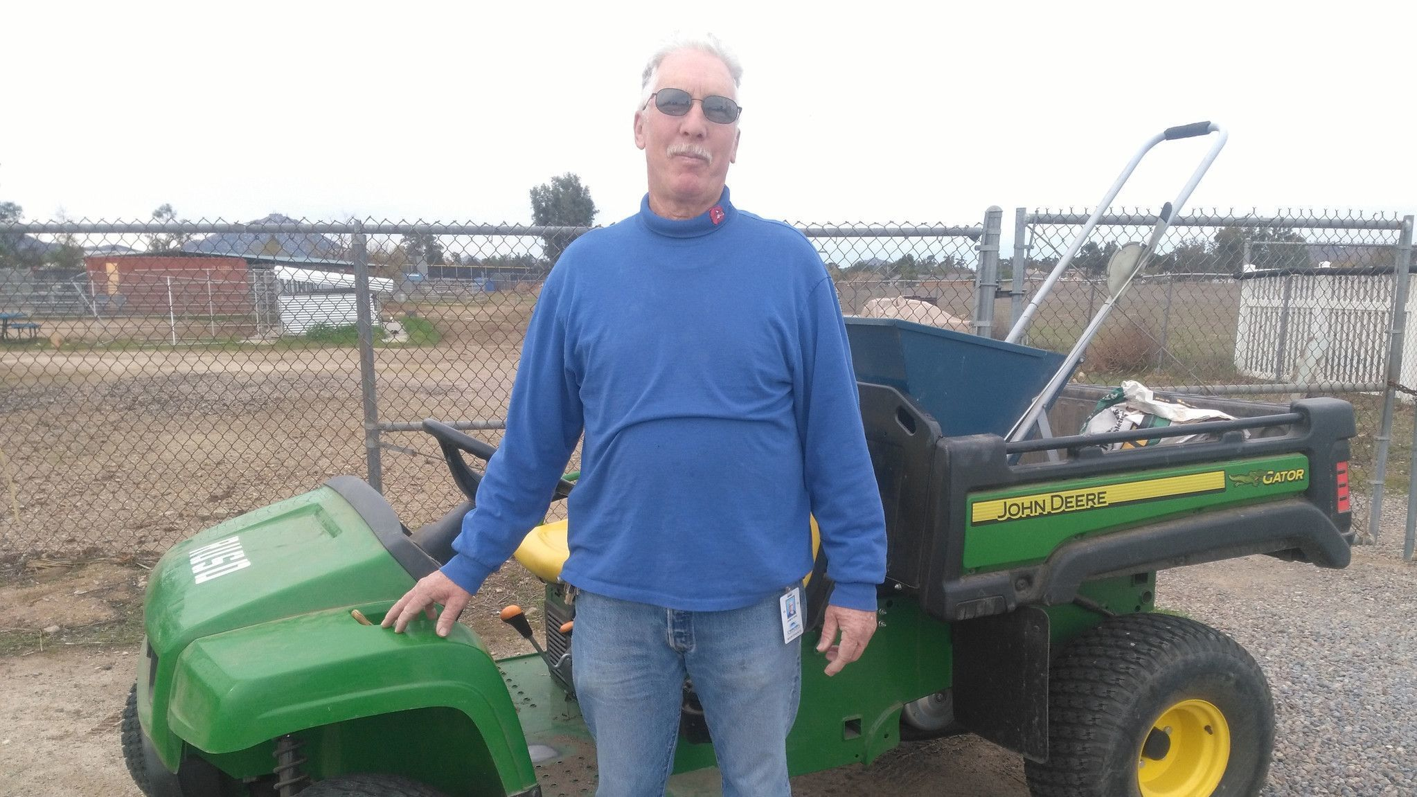 Jim King recently retired as groundskeeper II for Ramona Unified School District but continues to serve as president of a local chapter of California School Employees Association.