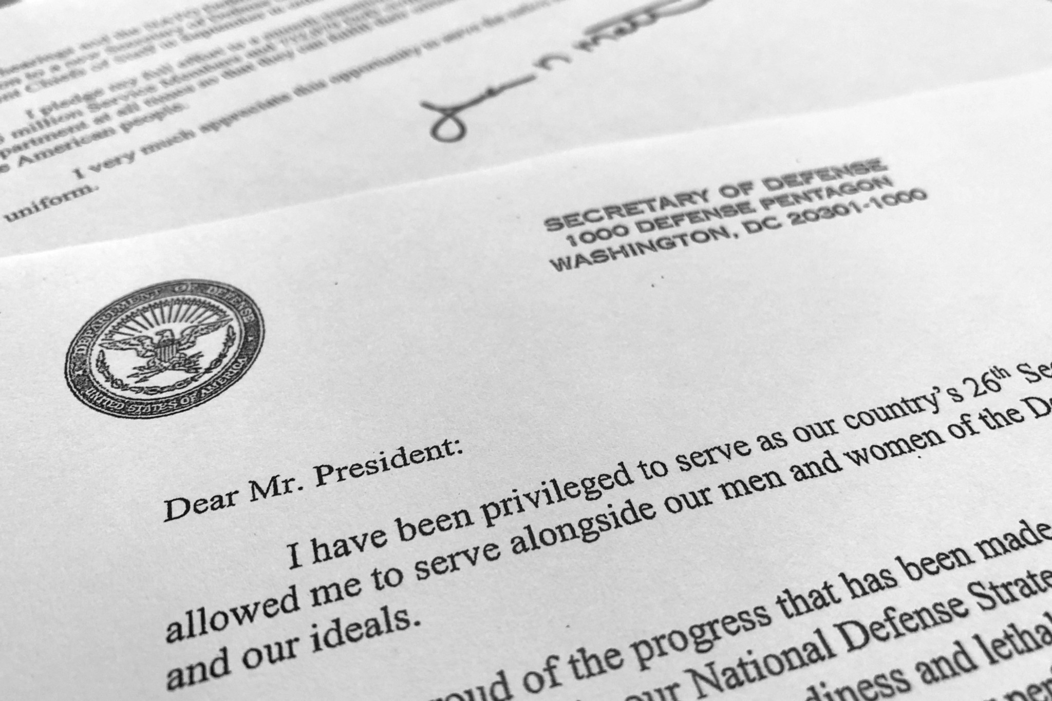 Read James Mattis Resignation Letter To President Trump