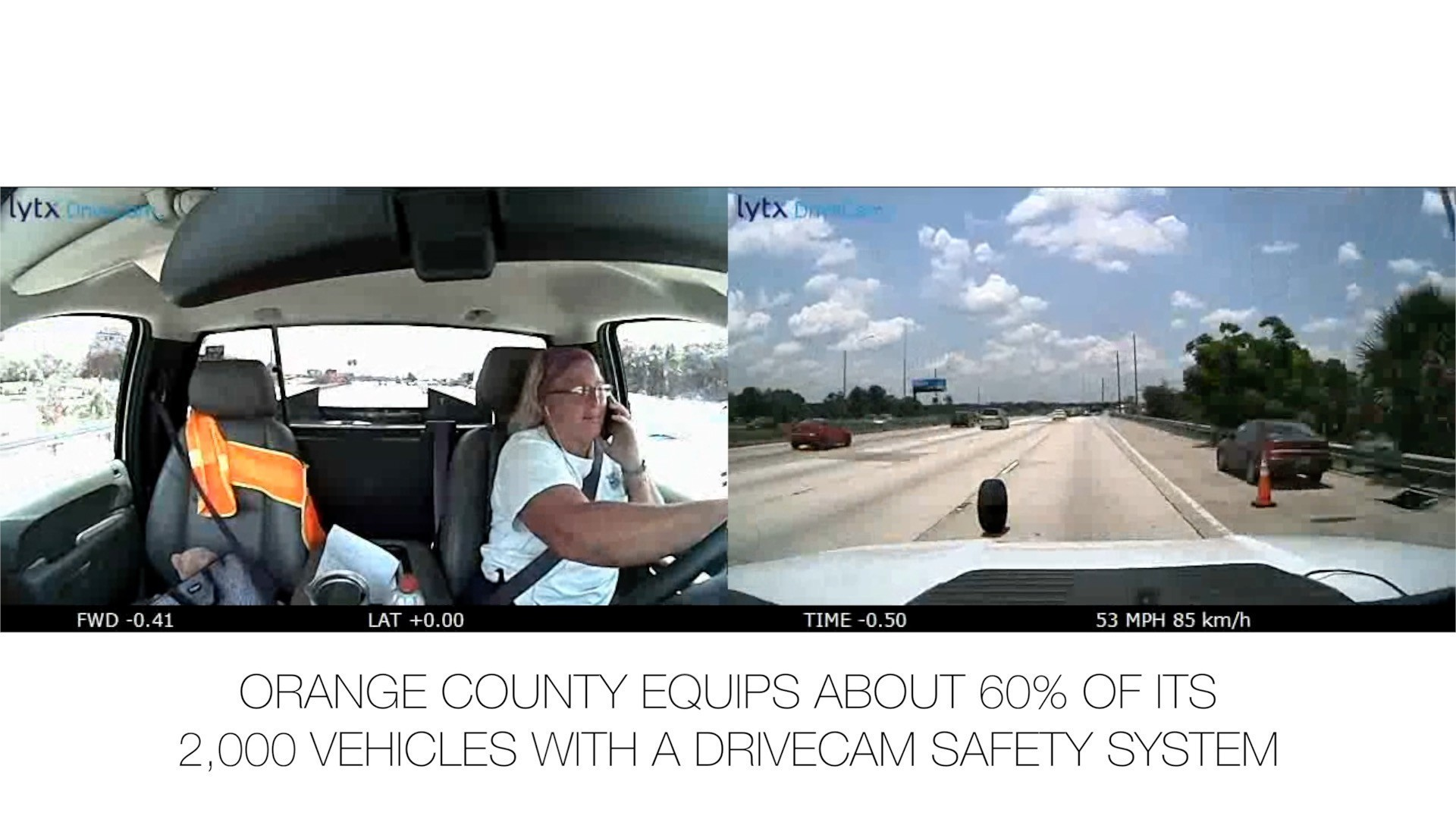 DriveCam system captures accidents in Orange County vehicles