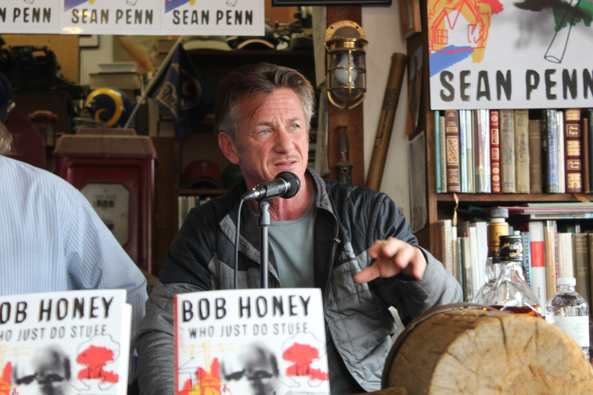 Actor Sean Penn visits La Jolla to read from his debut novel at D.G. Wills bookstore.