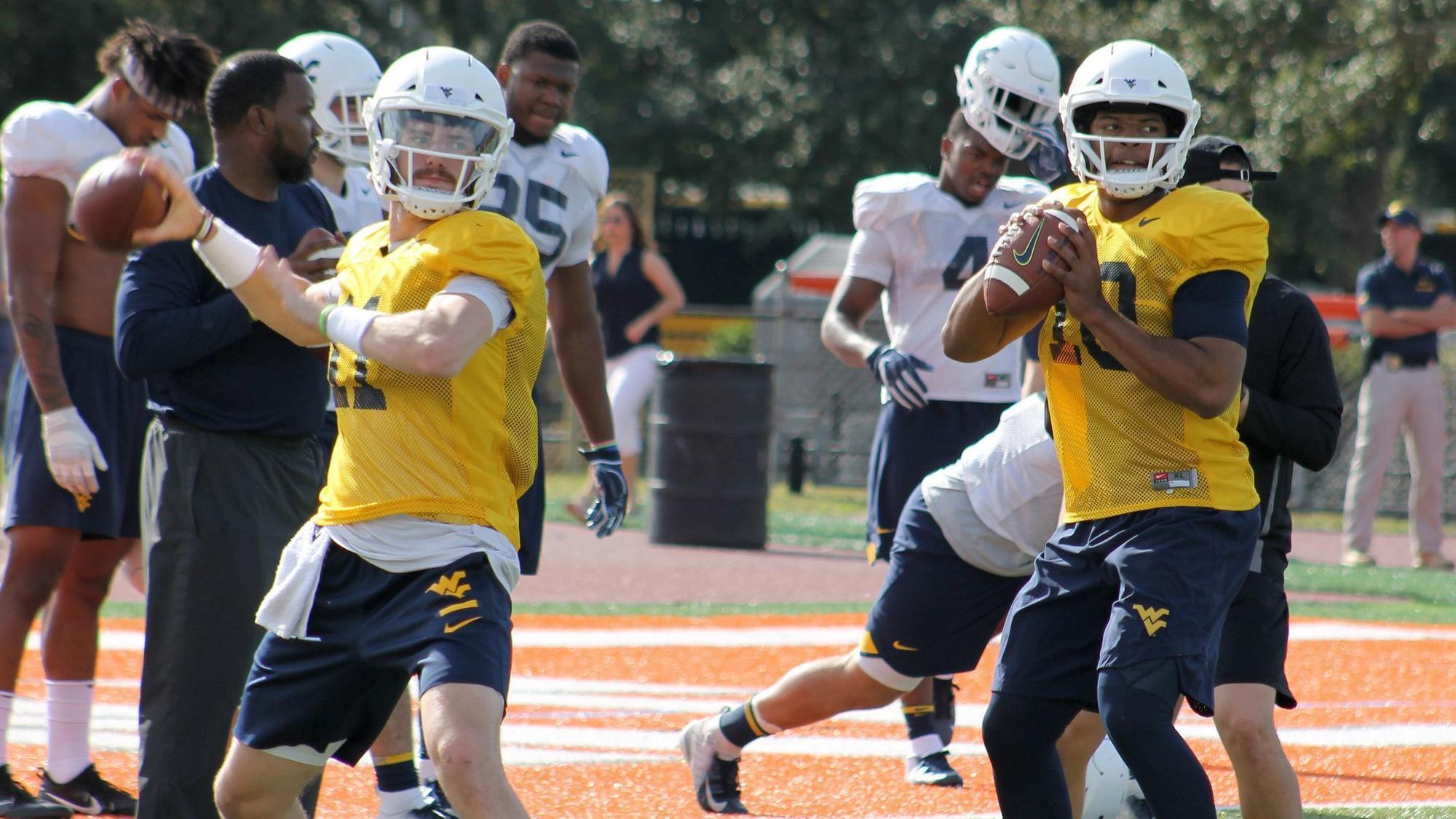 West Virginia Coach Dana Holgorsen Confident In Quarterbacks Who