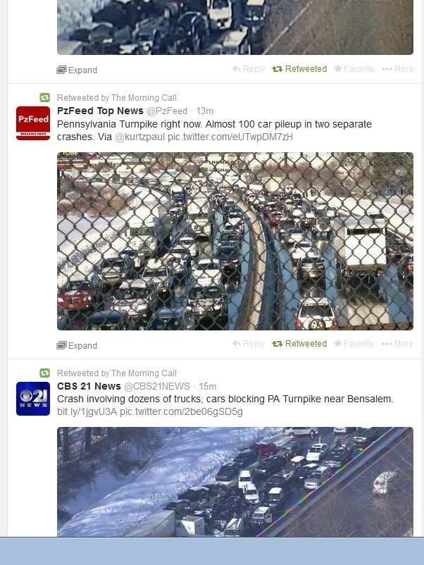 PA Turnpike pileup: 50-100 vehicles crash on I-276 in Bucks