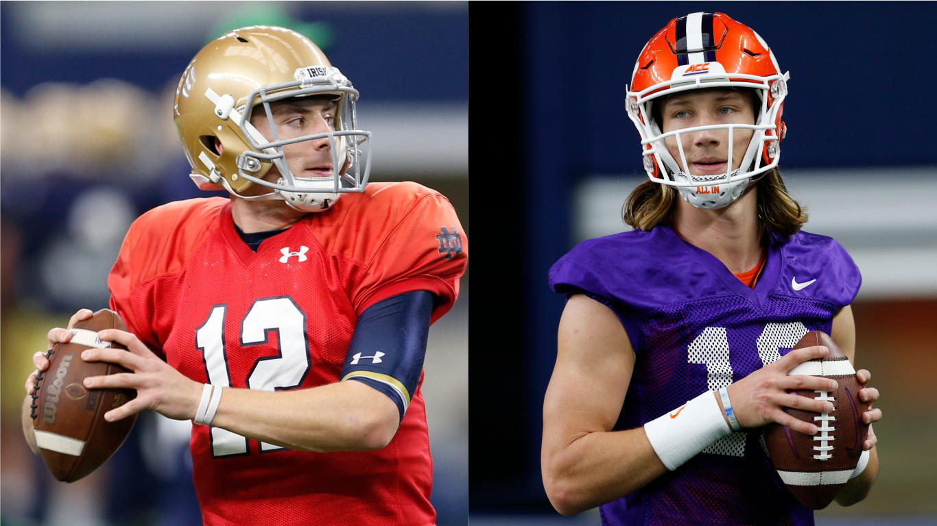 Notre Dame's Ian Book and Clemson's Trevor Lawrence: Chill ...