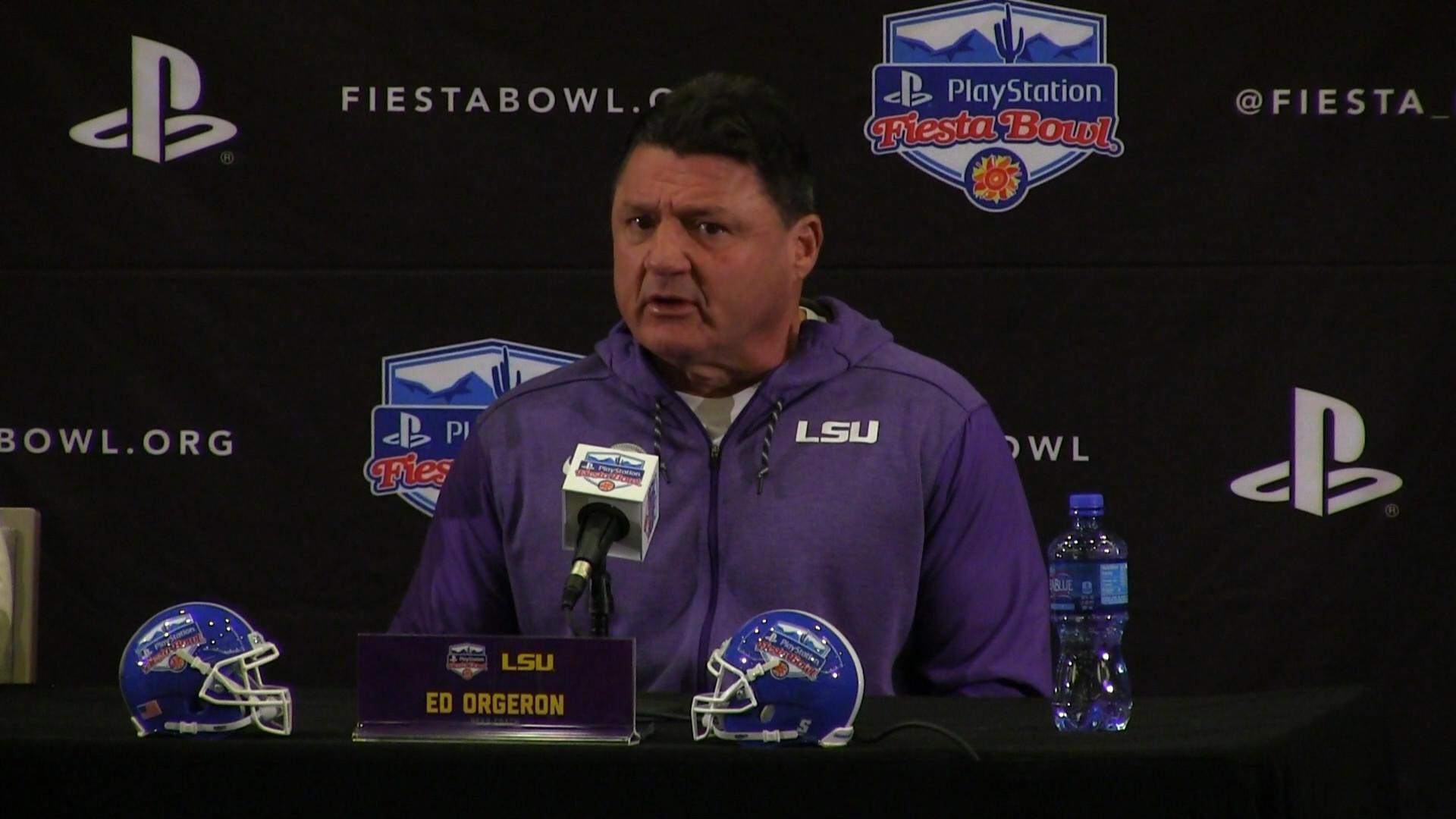b056f84e1 LSU coach Ed Orgeron passionate about leading Tigers to success for state  of Louisiana - Orlando Sentinel