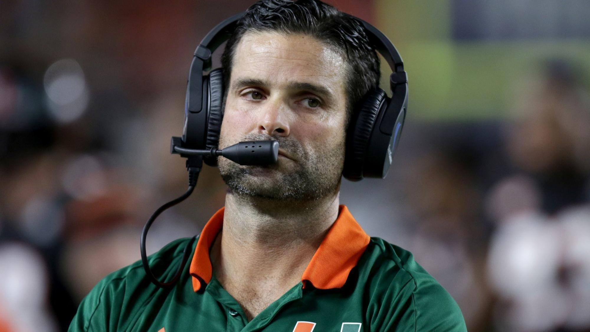 um s manny diaz fires hurricanes offensive staff hours after taking