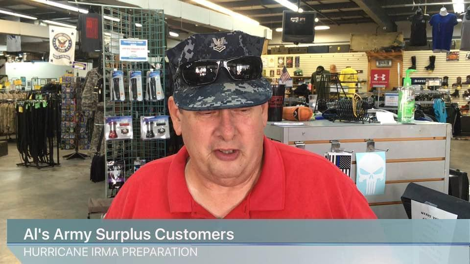 Hurricane Irma preparation at Al's army surplus store  - The