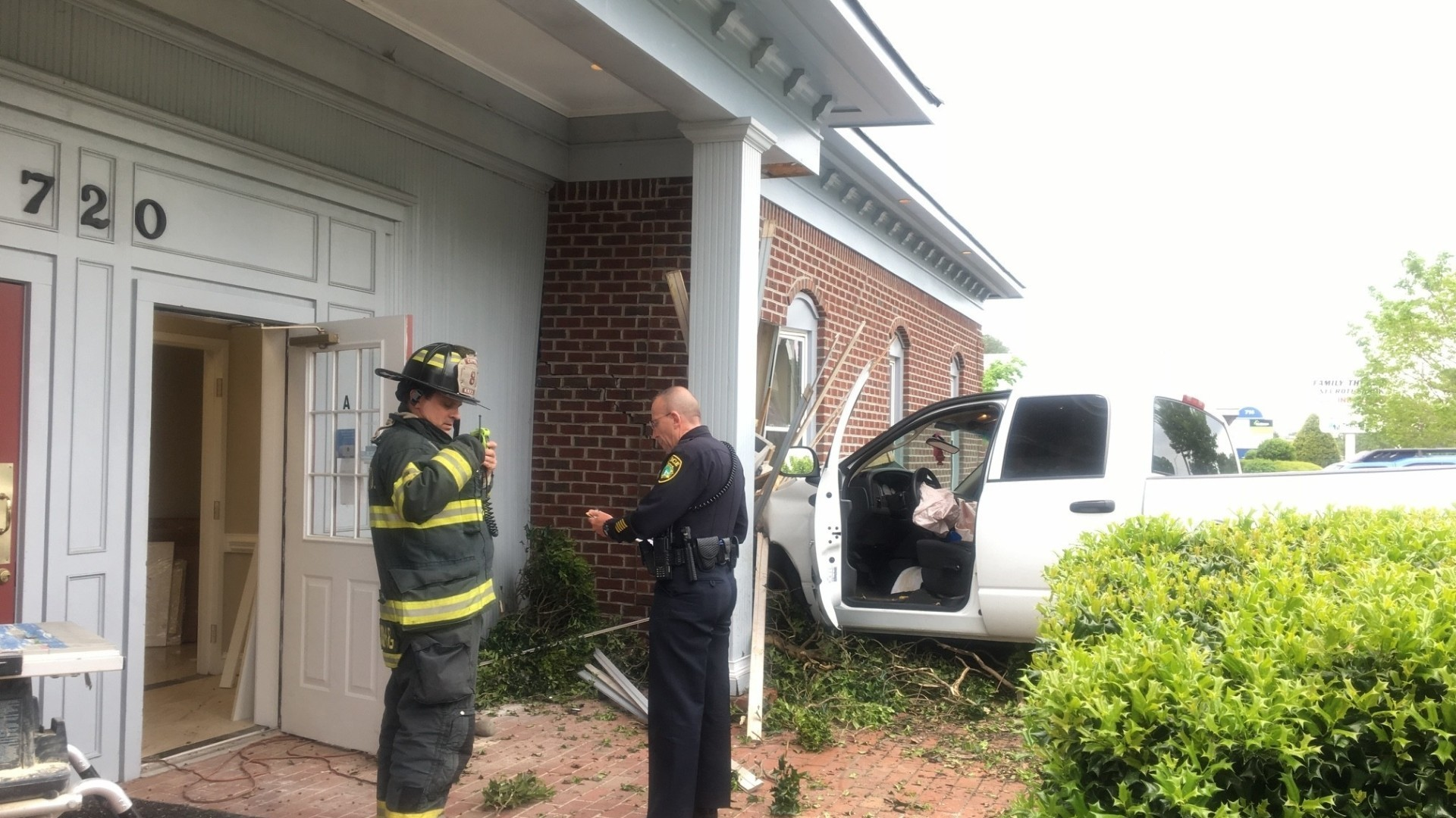 Truck crashes into Panda Kitchen and Bath building in ...