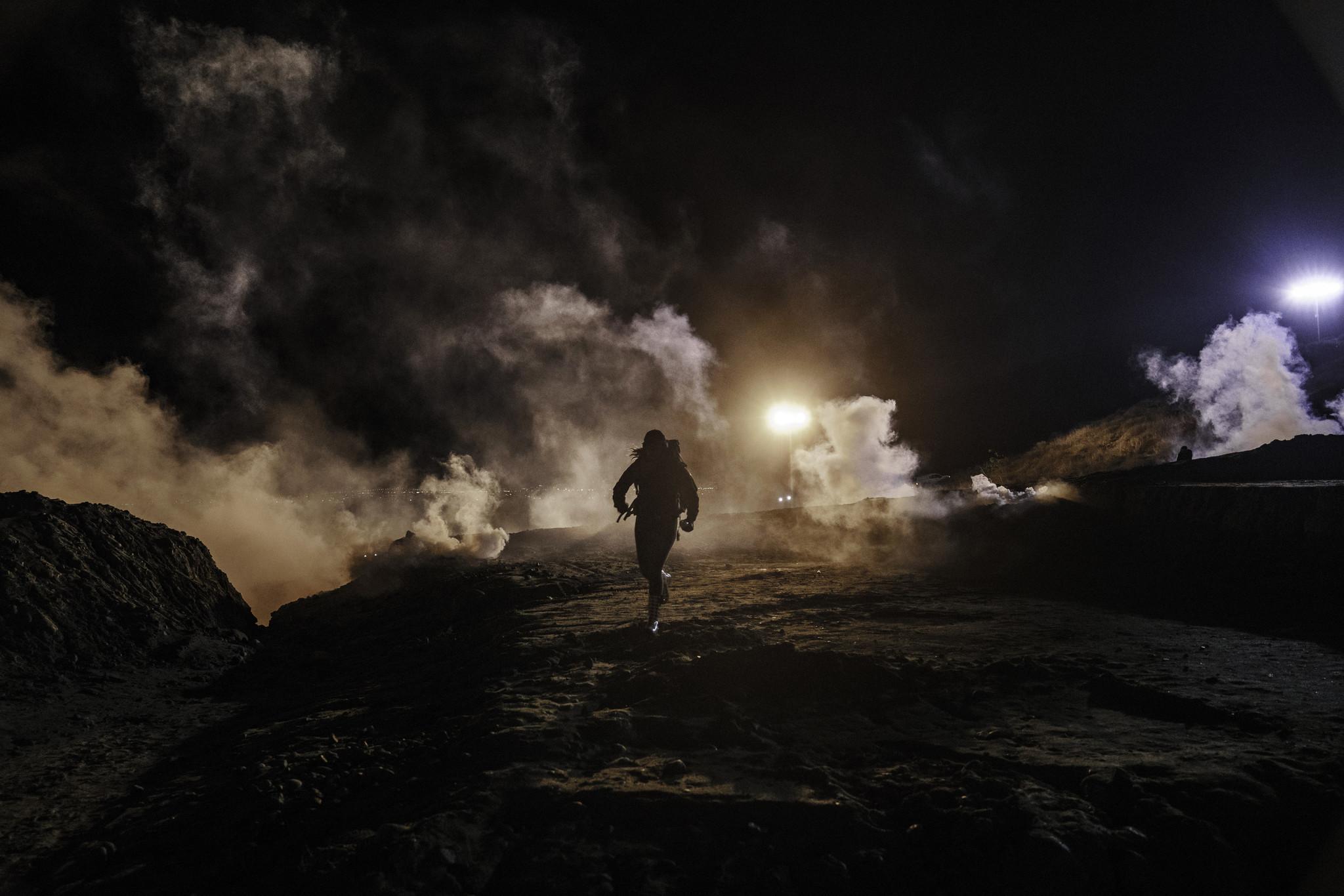 Border Patrol fires tear gas, pepper spray on migrants