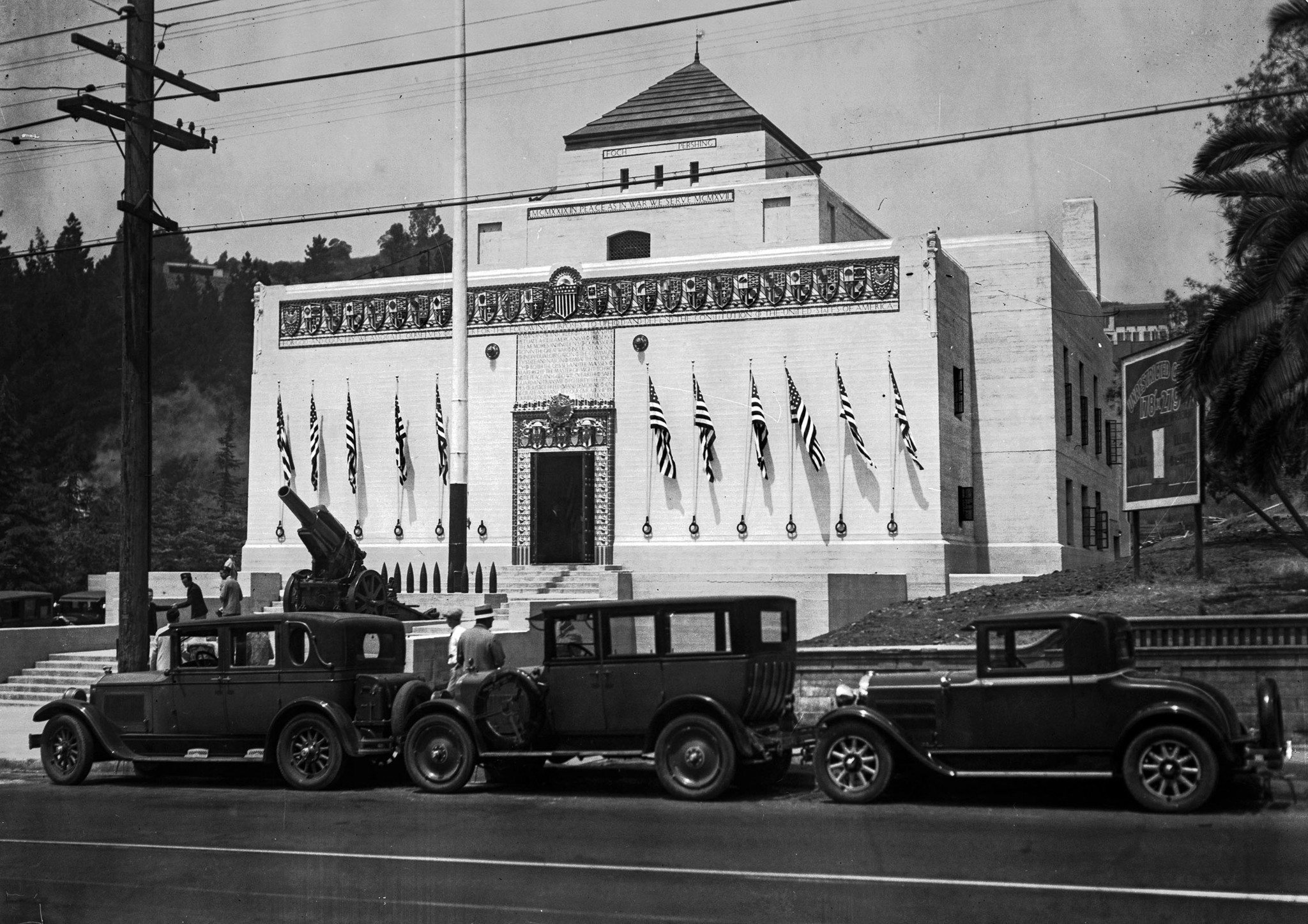 July 4, 1929: New American Legion Post dedication in Hollywood. This photo was published in the July