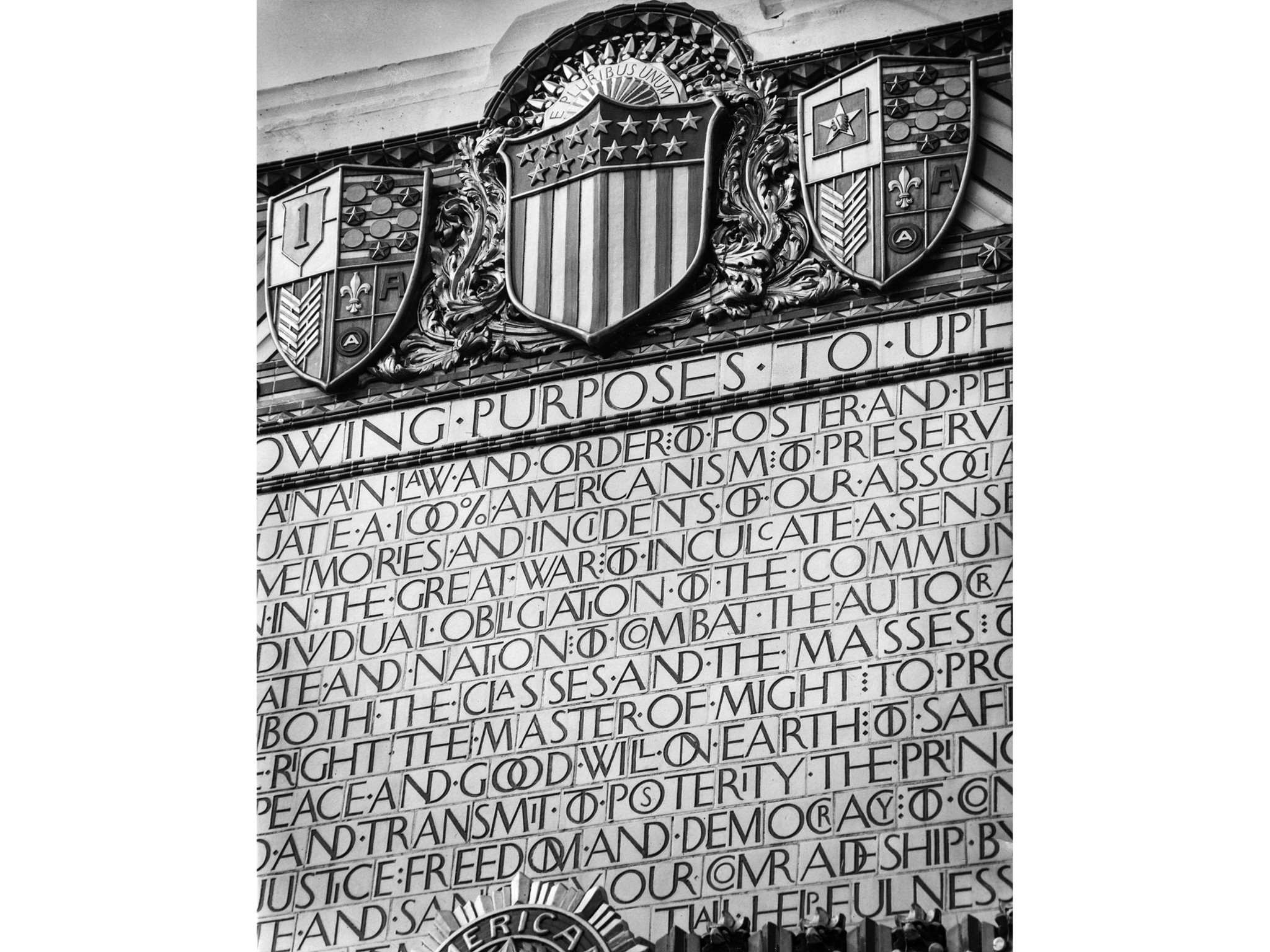 Nov. 28, 1955: Ornate entrance to American Legion Post 43 in Hollywood. Photo used in the Know Your