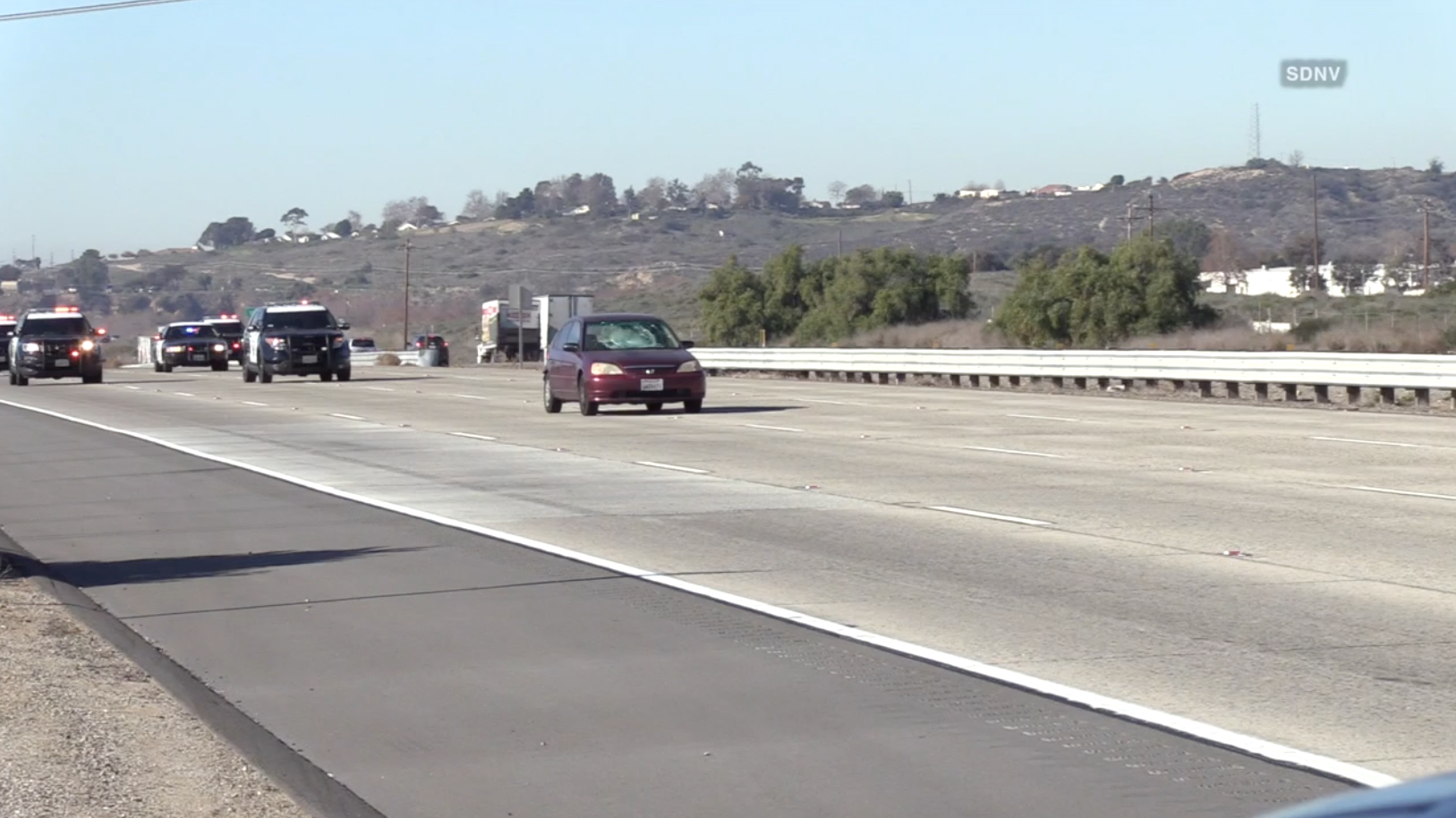 Chase Suspect Apprehended Near Camp Pendleton All I 5 South Lanes Reopened After Closure