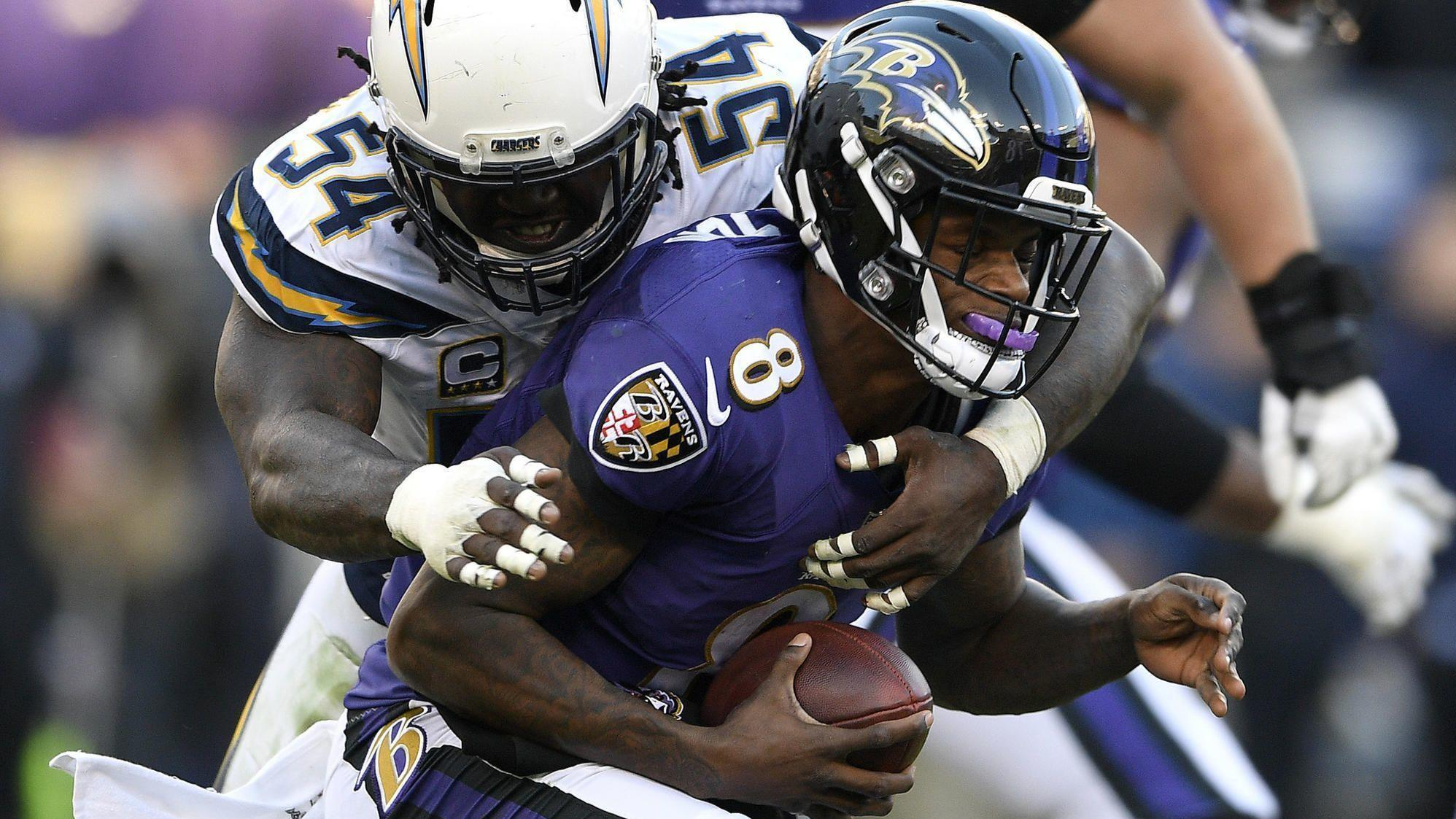 b510e1f6091 Instant analysis: After awful start, late charge can't save Ravens' season  in 23-17 wild-card-round loss to Chargers