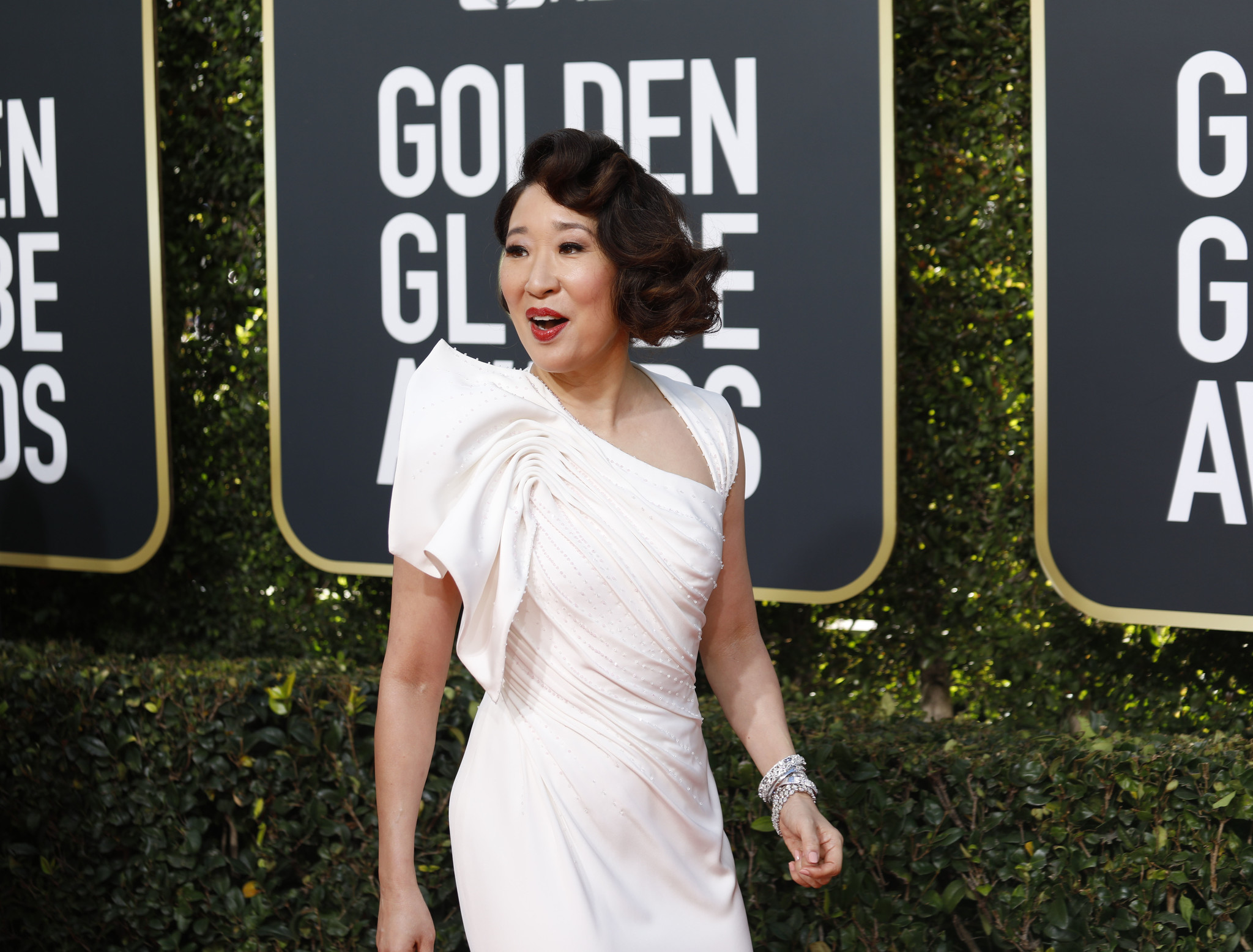 Sandra Oh at the 76th Golden Globes.