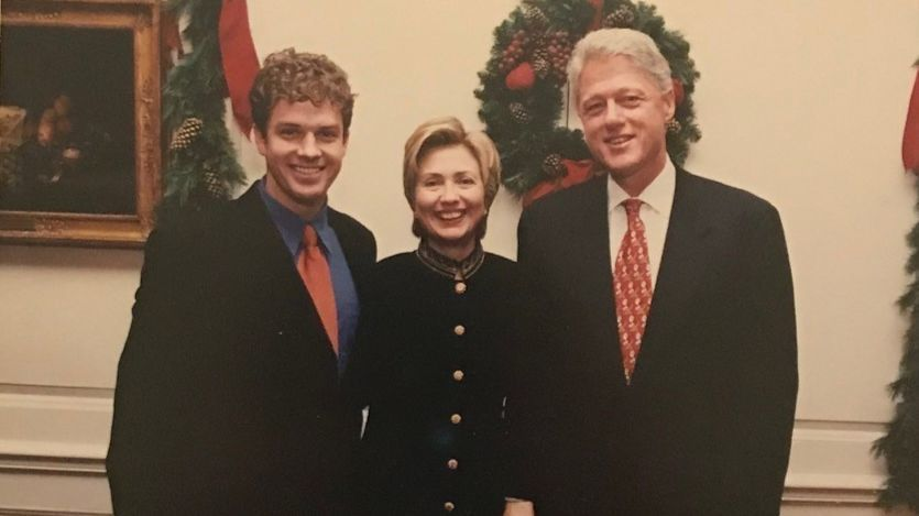 James Rudolph poses with Hillary and Bill Clinton.