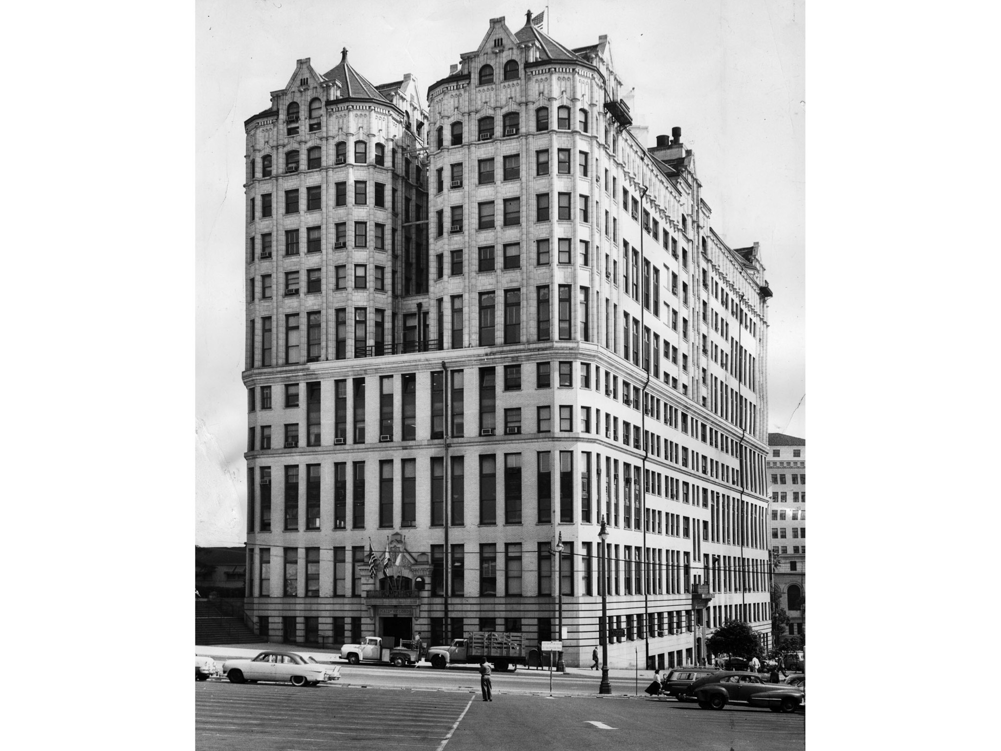 March 27, 1959: The Los Angeles County Hall of Records was completed in 1911. This photo was publish