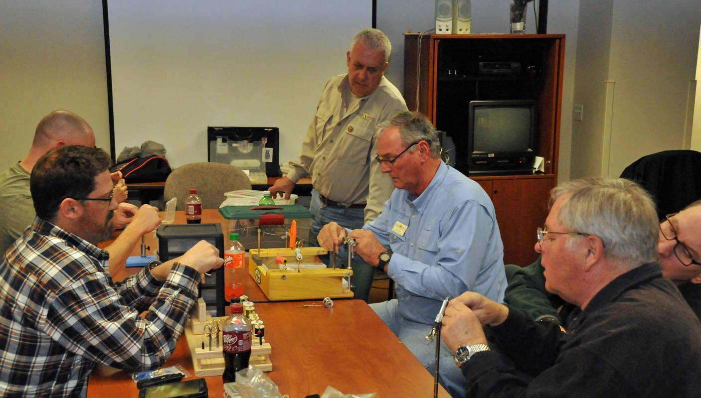 Fort Meade therapeutic program teaches vets the art of fly fishing, fly tying