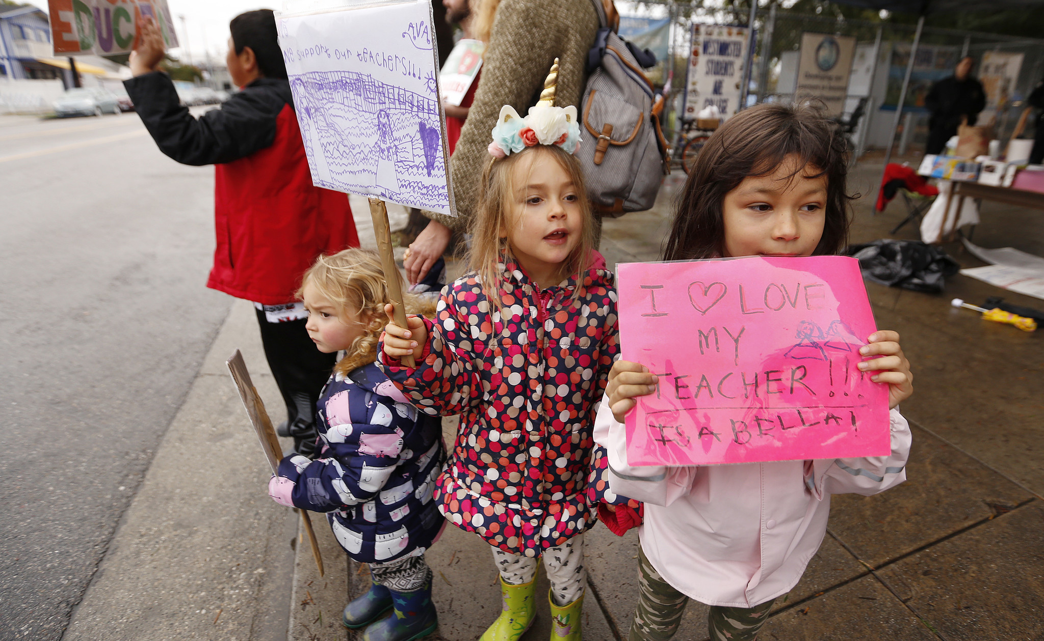 Kindergarten students join strike at Westminster Elementary