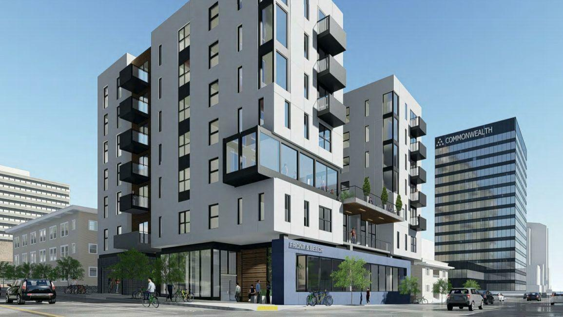 Downtown san diego building proposes 78 apartments 7 parking spots the san diego union tribune - Apartment buildings san diego ...