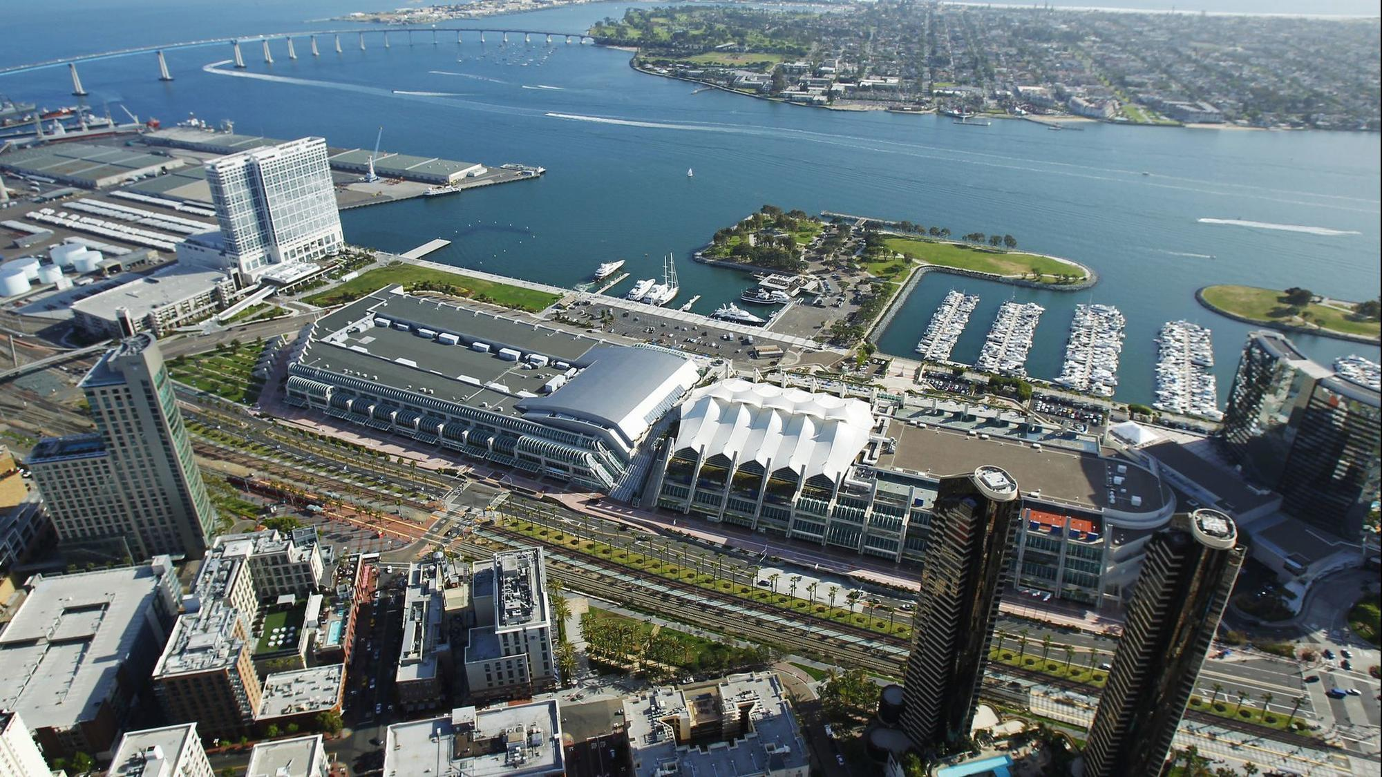 San Diego Convention Center aerial photo - image link to article