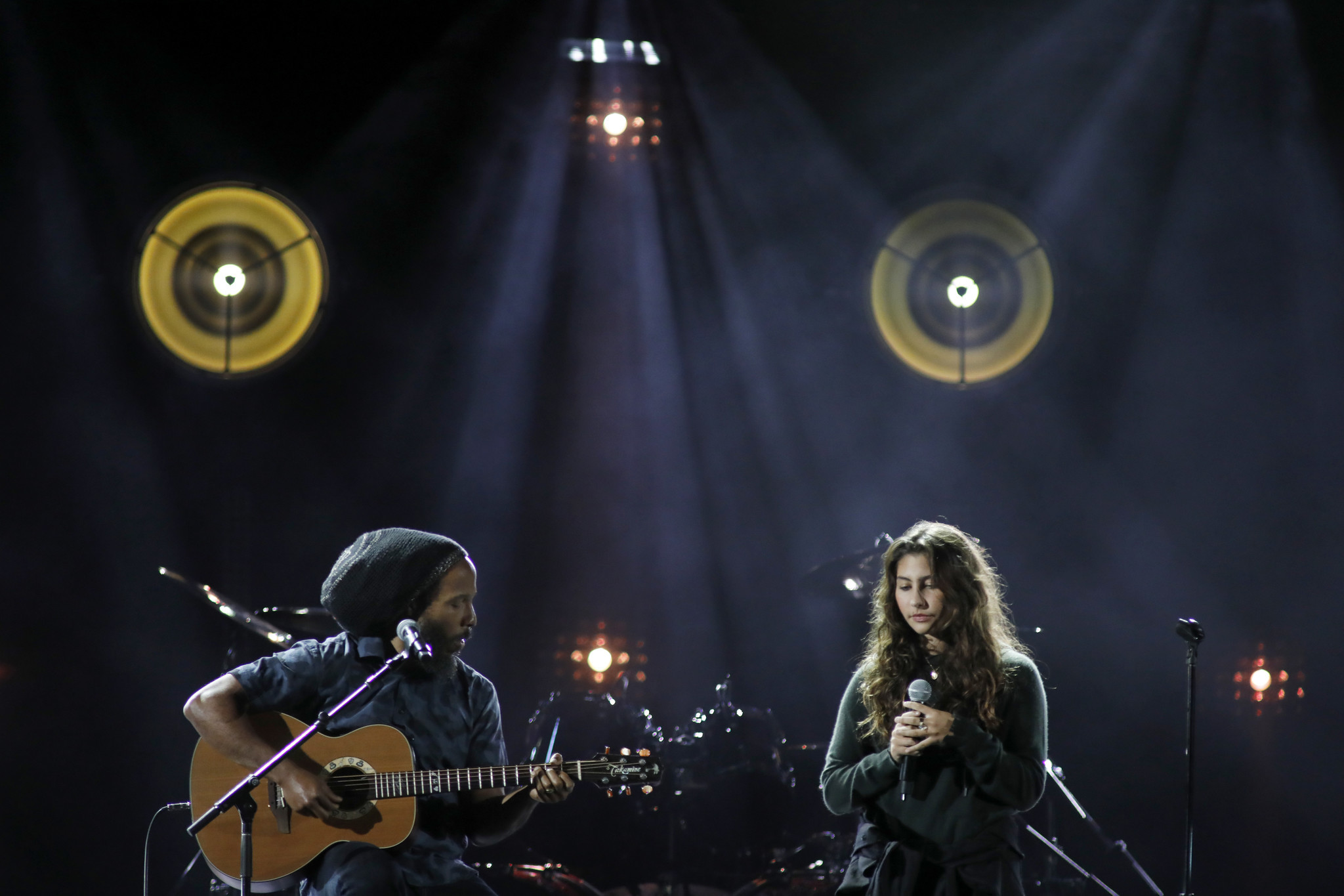 Ziggy Marley and Toni Cornell