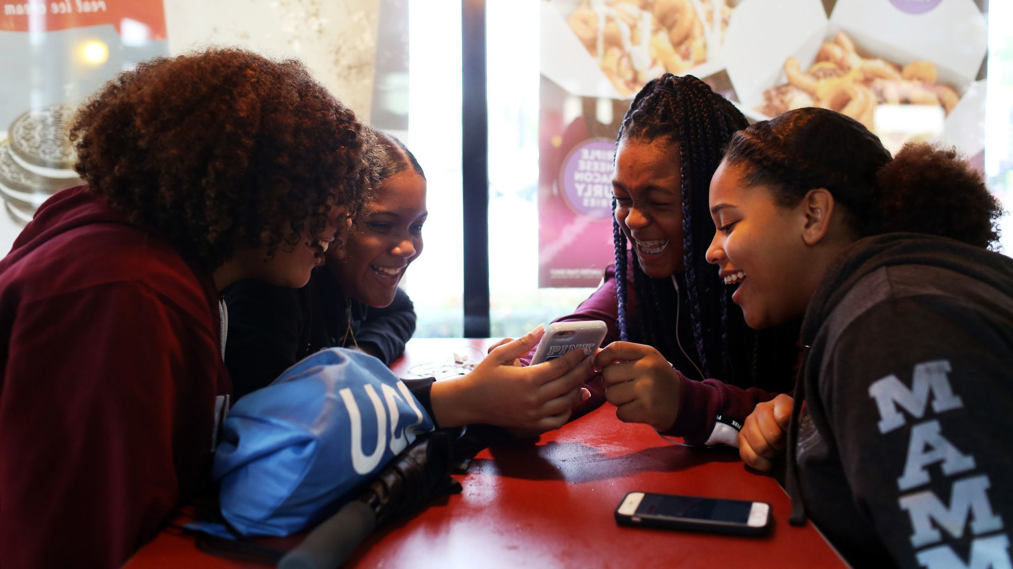 LOS ANGELES, CA-JANUARY 14, 2019: Friends Imani Brown, Savonna McGlothan, Jade Foreman and Aleysha B
