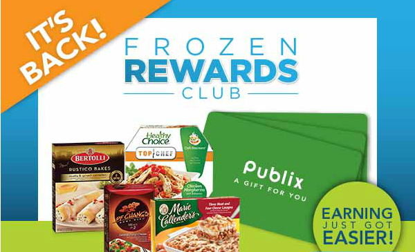 Free $10 Publix gift card with frozen food purchases