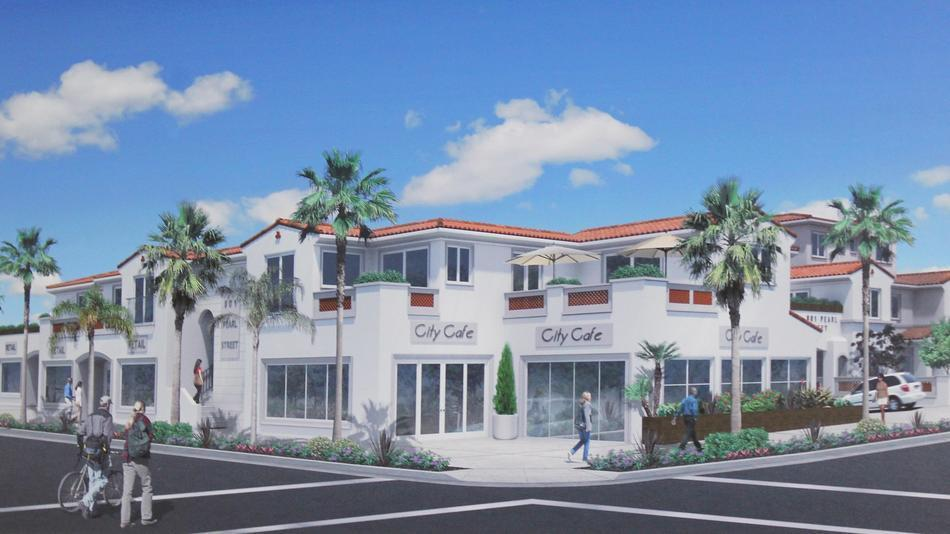 This 2013 rendering of Conger's proposed project was modified before being redone by another architect and approved in 2015.