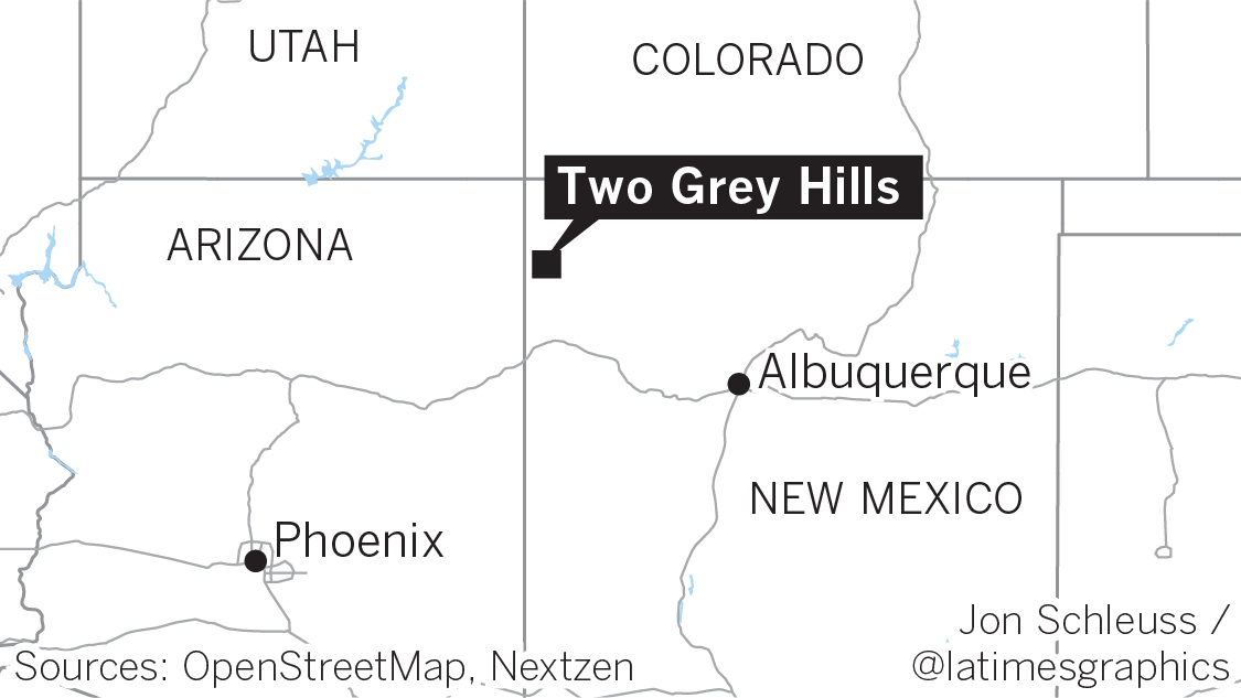 Map of Two Grey Hills