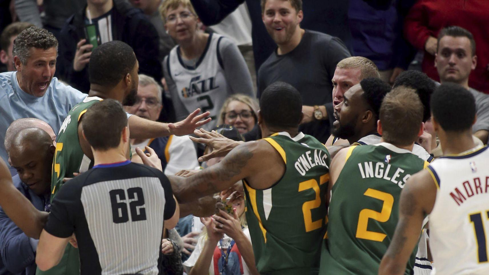 c4a63f7f2537 NBA  Nuggets  Nikola Jokic suspended one game for leaving bench during  altercation