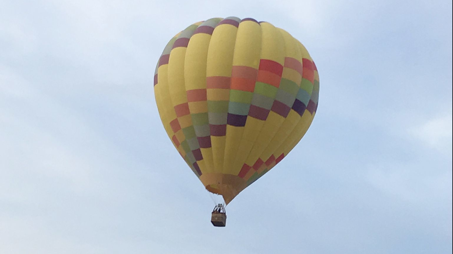 Passengers on this hot air balloon bound for Rancho Santa Fe Sunday, Jan. 20, found themselves over Poway, then Ramona.