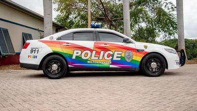 South Florida's LGBT capital has a new rainbow police car