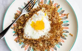 Za'atar Farro with Fried Eggs
