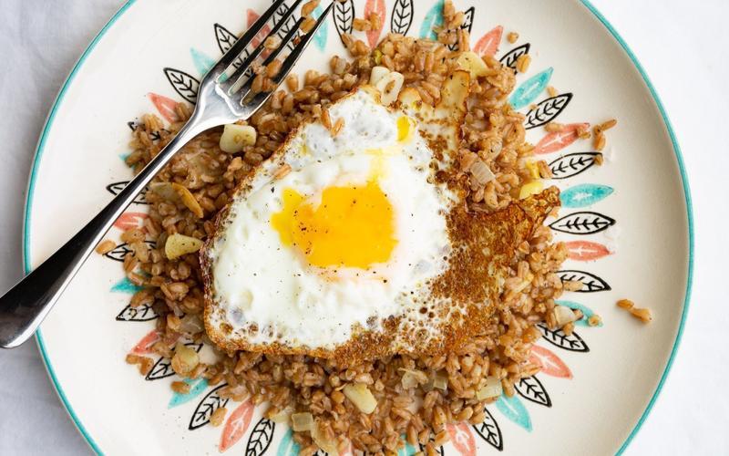 Za'atar Farro with Fried Eggs
