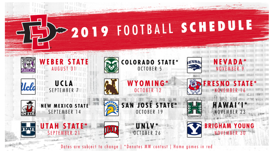 Sdsu 2016 Football Schedule