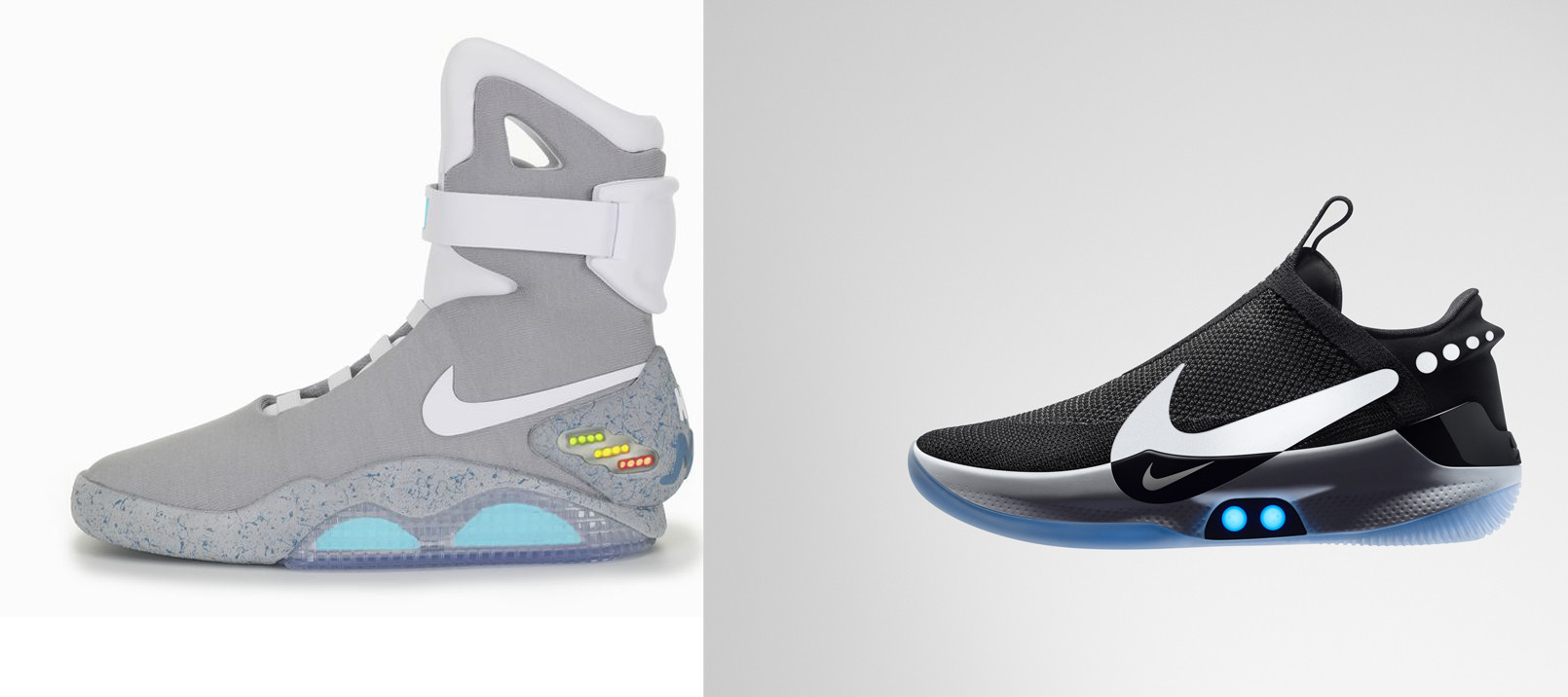 online store 96d15 565c0 1,500 pairs of the Nike Air Mag, left, were sold through an auction in  2011. The  350 Nike Adapt BB, right, is scheduled to hit retail Feb. 17.