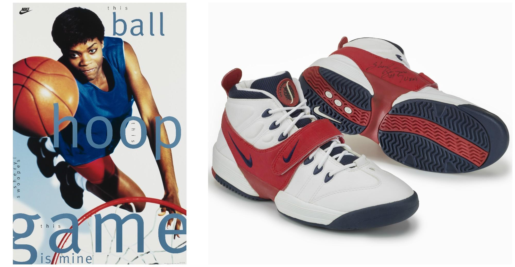 Sheryl Swoopes and a pair of Air Swoopes.