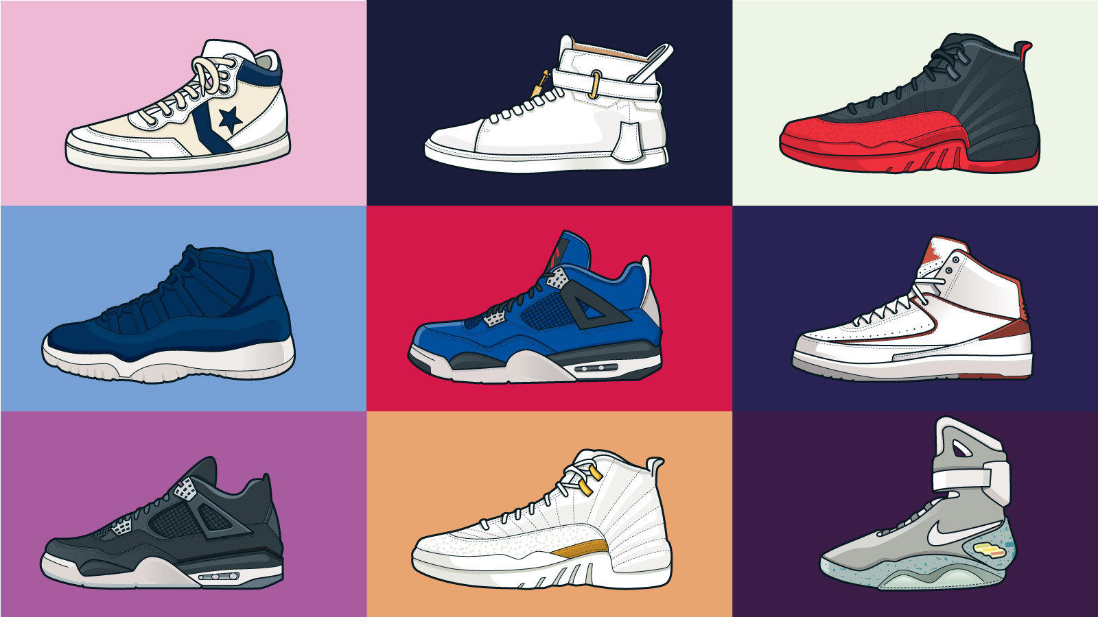 Illustration of swoon-worthy sneakers.