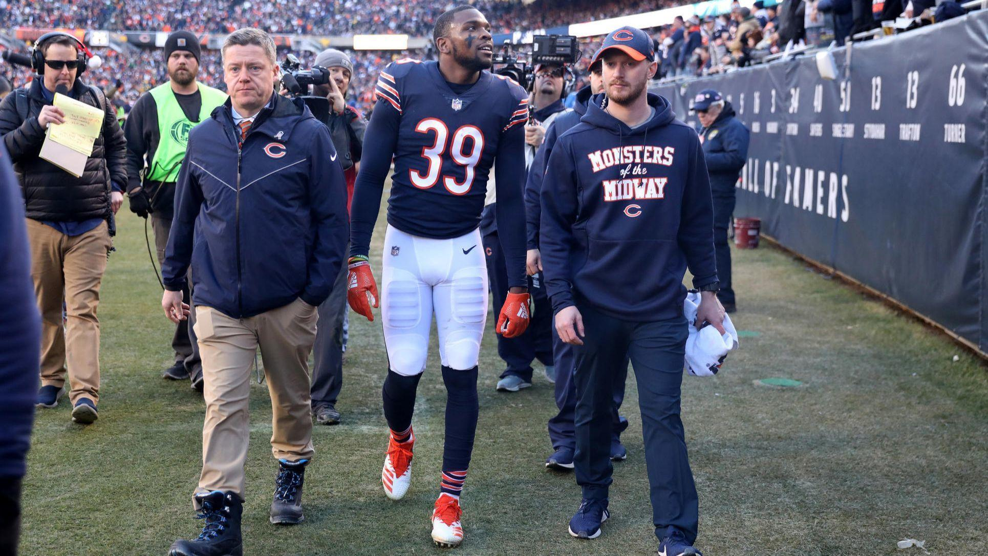 592446e3206 Eddie Jackson sits out Bears practice Wednesday, but three injured  receivers fully participate