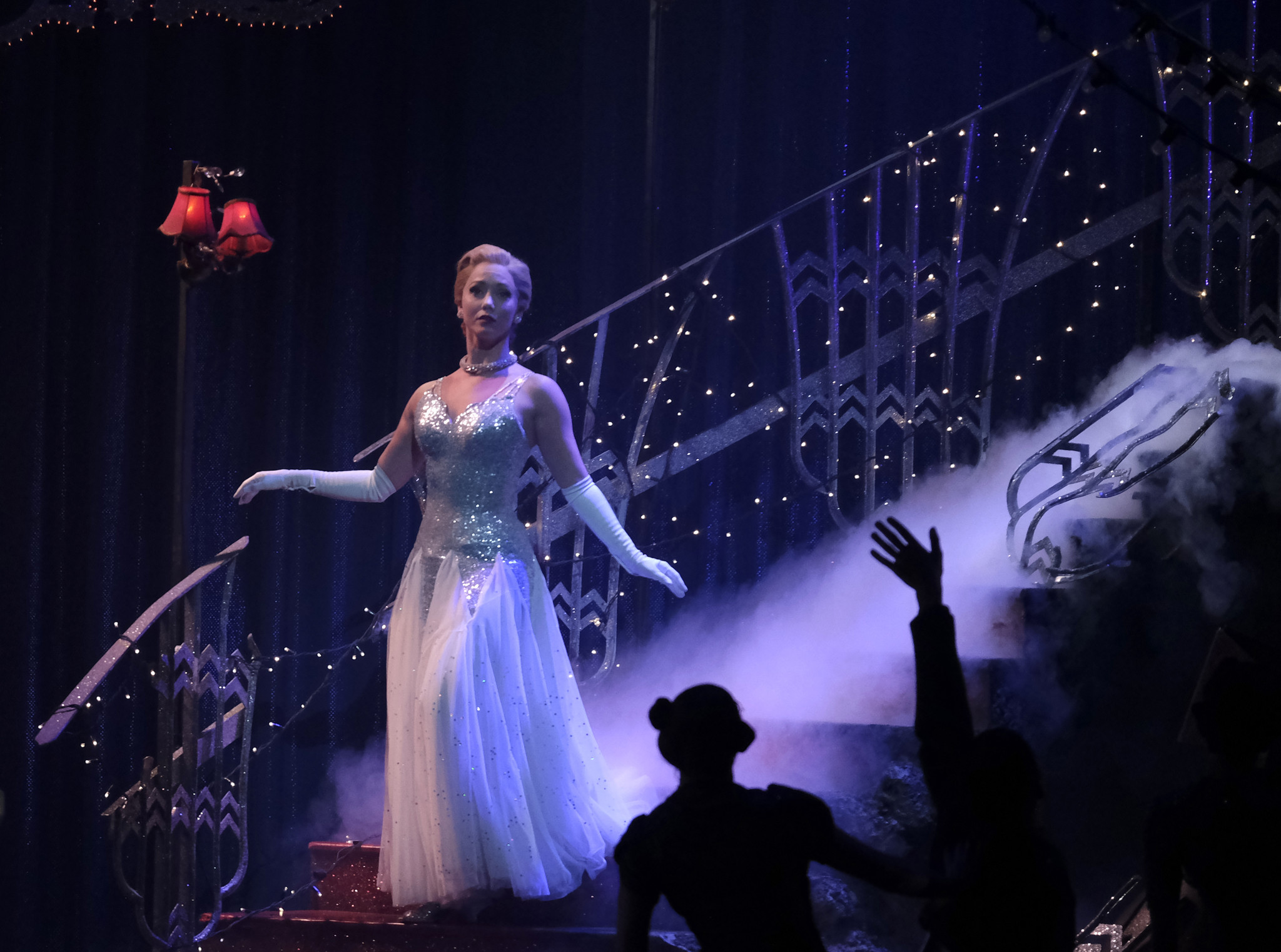 Los Angeles, CA FEBRAURY 6, 2019: Ashley Shaw dancing the part of Cinderella comes down the stair