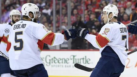 2257c01ca36 Mike Hoffman s goal lifts Panthers past Capitals for Florida s second  straight OT win
