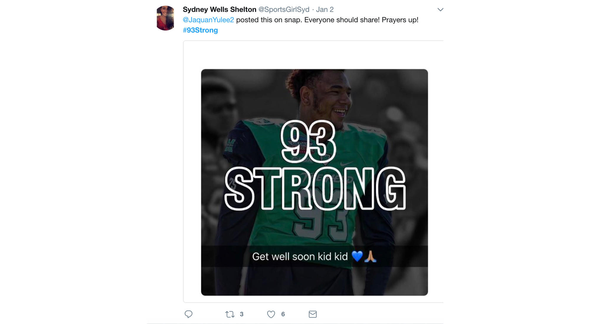 Start of the #93Strong hashtag