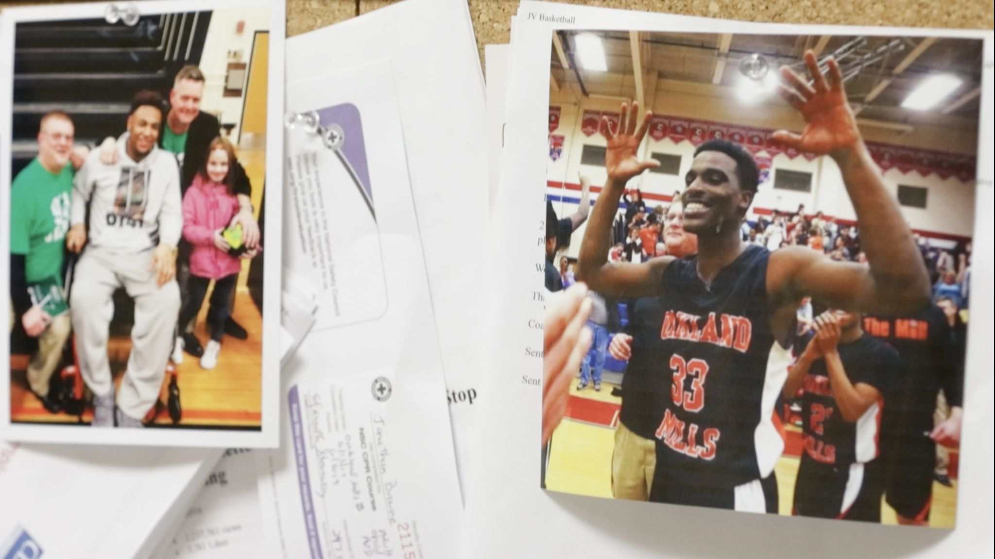 Photos of Larry Aaron III, left, and Kaiyon Stanfield
