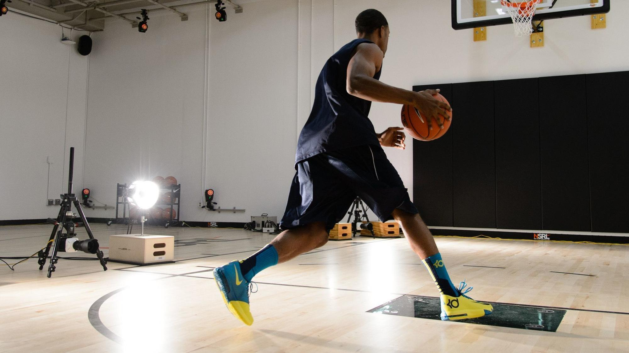 A player at Nike Sports Research Lab.