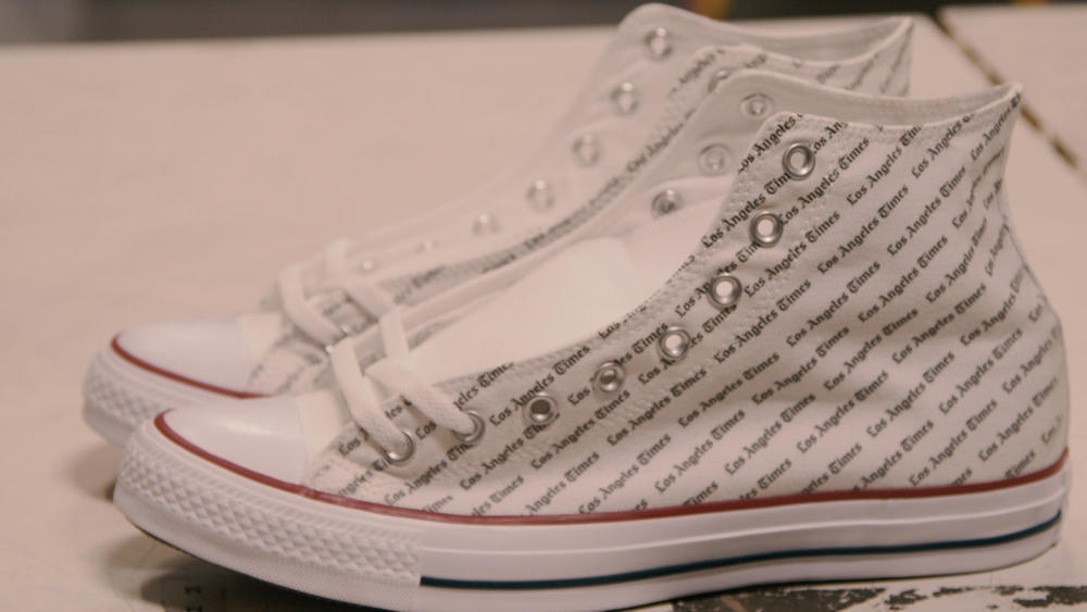 5aedb16dde25ca Custom L.A. Times sneaker Los Angeles Times
